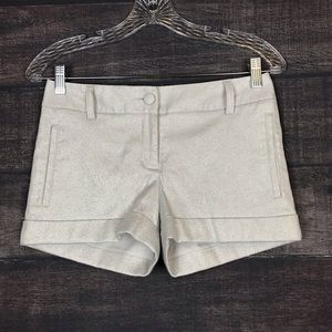 Express Metallic Silver Dressy Shorts Size 00